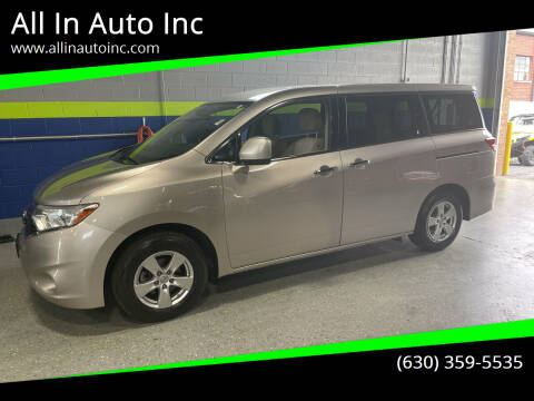 2013 Nissan Quest for sale at All In Auto Inc in Addison IL