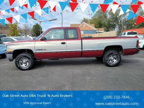 1996 Dodge Ram Pickup 1500 for sale at Oak Street Auto DBA Truck 'N Auto Brokers in Pocatello ID