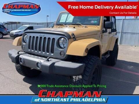 2014 Jeep Wrangler for sale at CHAPMAN FORD NORTHEAST PHILADELPHIA in Philadelphia PA