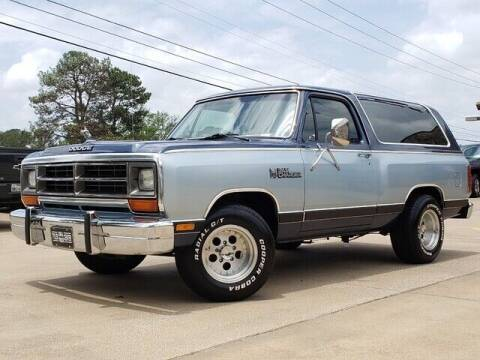 1987 Dodge Ramcharger for sale at Tyler Car  & Truck Center in Tyler TX