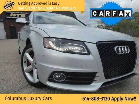 2012 Audi A4 for sale at Columbus Luxury Cars in Columbus OH