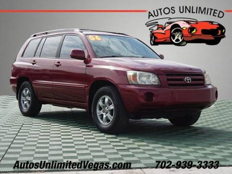 2006 Toyota Highlander for sale at Autos Unlimited in Las Vegas NV