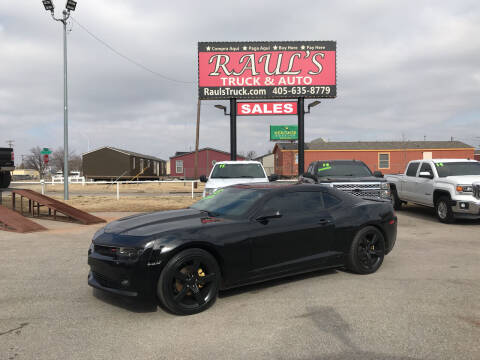 2015 Chevrolet Camaro for sale at RAUL'S TRUCK & AUTO SALES, INC in Oklahoma City OK