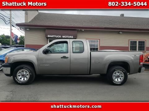2012 GMC Sierra 1500 for sale at Shattuck Motors - NEKtrucks.com in Newport VT