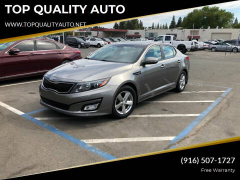 2015 Kia Optima for sale at TOP QUALITY AUTO in Rancho Cordova CA