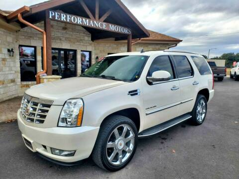 2013 Cadillac Escalade for sale at Performance Motors Killeen Second Chance in Killeen TX