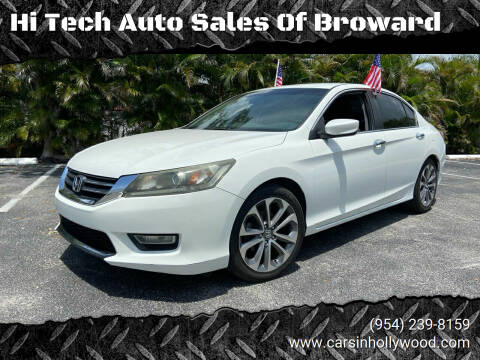 2013 Honda Accord for sale at Hi Tech Auto Sales Of Broward in Hollywood FL