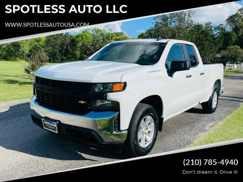 2019 Chevrolet Silverado 1500 for sale at SPOTLESS AUTO LLC in San Antonio TX