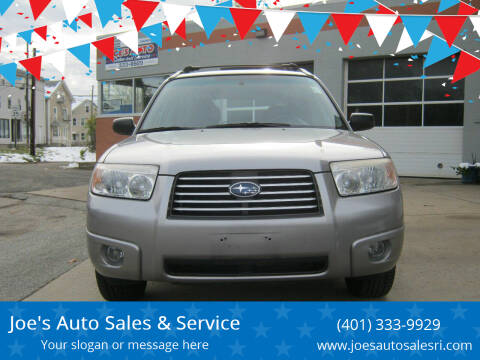 2008 Subaru Forester for sale at Joe's Auto Sales & Service in Cumberland RI