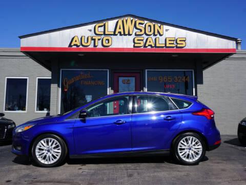 2015 Ford Focus for sale at Clawson Auto Sales in Clawson MI