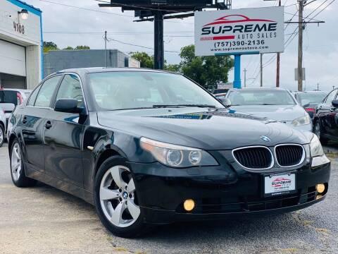 2006 BMW 5 Series for sale at Supreme Auto Sales in Chesapeake VA