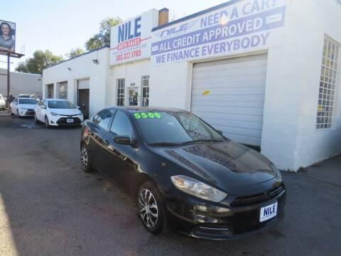 2015 Dodge Dart for sale at Nile Auto Sales in Denver CO