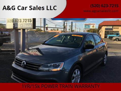 2015 Volkswagen Jetta for sale at A&G Car Sales  LLC in Tucson AZ