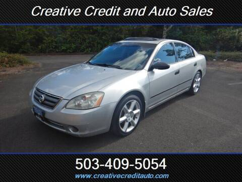 2003 Nissan Altima for sale at Creative Credit & Auto Sales in Salem OR