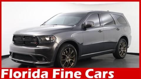 2017 Dodge Durango for sale at Florida Fine Cars - West Palm Beach in West Palm Beach FL