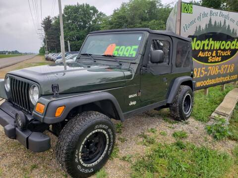 2004 Jeep Wrangler for sale at Northwoods Auto & Truck Sales in Machesney Park IL
