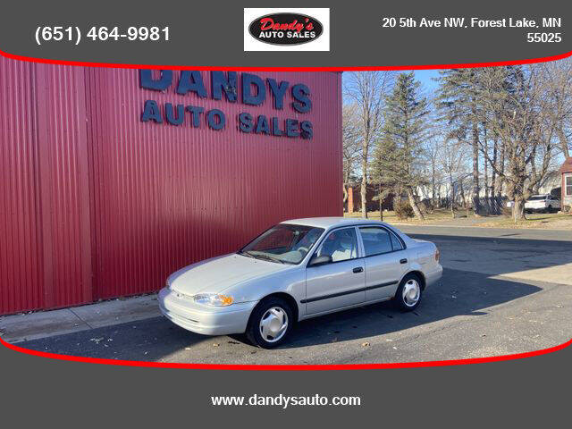 2001 Chevrolet Prizm for sale at Dandy's Auto Sales in Forest Lake MN