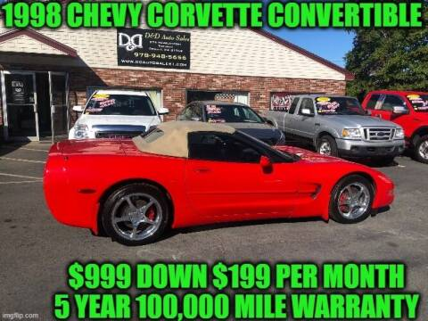 1998 Chevrolet Corvette for sale at D&D Auto Sales, LLC in Rowley MA