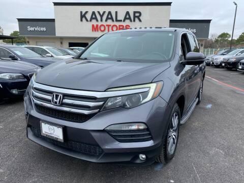 2016 Honda Pilot for sale at KAYALAR MOTORS in Houston TX