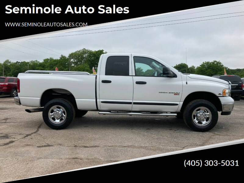 2004 Dodge Ram Pickup 2500 for sale at Seminole Auto Sales in Seminole OK