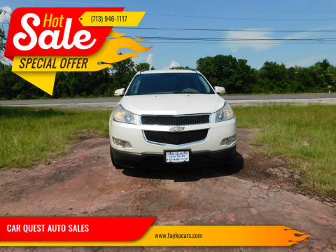 2012 Chevrolet Traverse for sale at CAR QUEST AUTO SALES in Houston TX
