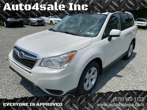 2014 Subaru Forester for sale at Auto4sale Inc in Mount Pocono PA