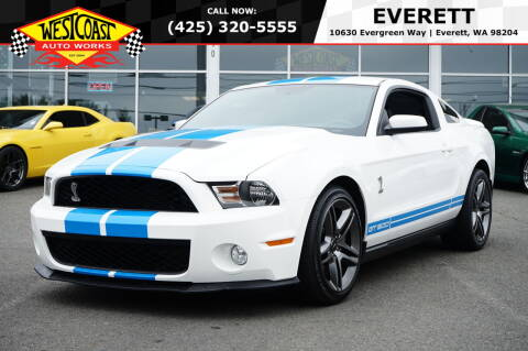 2010 Ford Shelby GT500 for sale at West Coast Auto Works in Edmonds WA