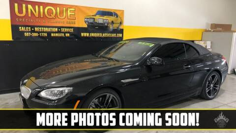 2014 BMW 6 Series for sale at UNIQUE SPECIALTY & CLASSICS in Mankato MN