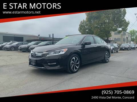 2016 Honda Accord for sale at E STAR MOTORS in Concord CA