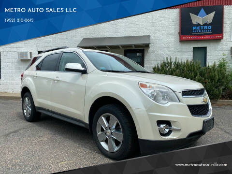 2013 Chevrolet Equinox for sale at METRO AUTO SALES LLC in Blaine MN