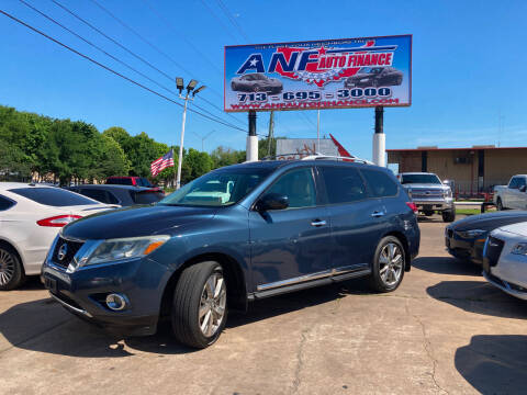 2013 Nissan Pathfinder for sale at ANF AUTO FINANCE in Houston TX
