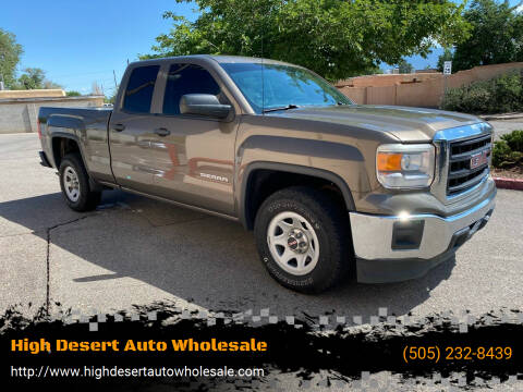 2014 GMC Sierra 1500 for sale at High Desert Auto Wholesale in Albuquerque NM