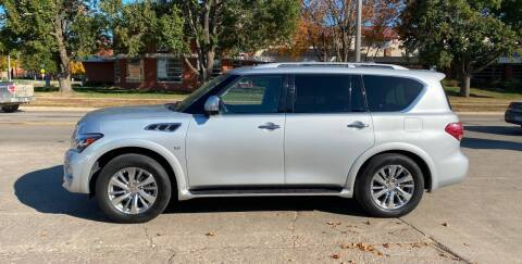 2015 Infiniti QX80 for sale at Mulder Auto Tire and Lube in Orange City IA