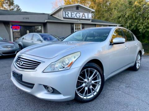 2011 Infiniti G37 Sedan for sale at Regal Auto Sales in Marietta GA