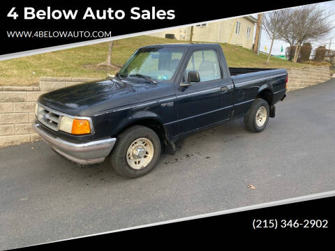 1997 Ford Ranger for sale at 4 Below Auto Sales in Willow Grove PA