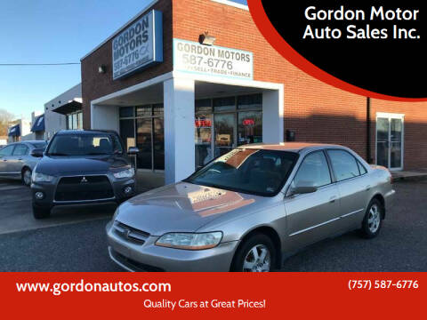 2000 Honda Accord for sale at Gordon Motor Auto Sales Inc. in Norfolk VA