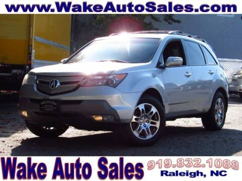 2009 Acura MDX for sale at Wake Auto Sales Inc in Raleigh NC