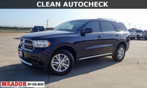 2013 Dodge Durango for sale at Meador Dodge Chrysler Jeep RAM in Fort Worth TX
