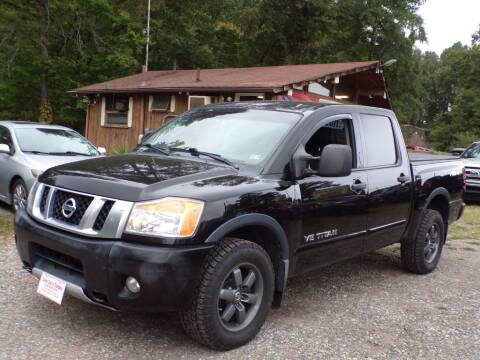 2013 Nissan Titan for sale at Select Cars Of Thornburg in Fredericksburg VA
