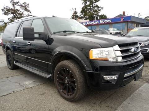 2016 Ford Expedition EL for sale at All American Motors in Tacoma WA