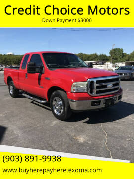 2006 Ford F-250 Super Duty for sale at Credit Choice Motors in Sherman TX