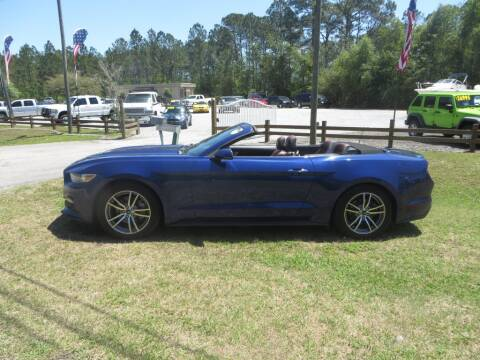2015 Ford Mustang for sale at Ward's Motorsports in Pensacola FL
