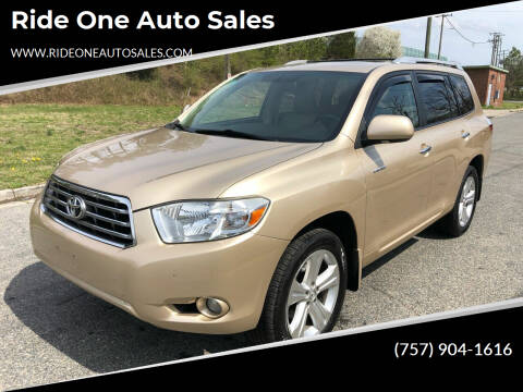 2009 Toyota Highlander for sale at Ride One Auto Sales in Norfolk VA