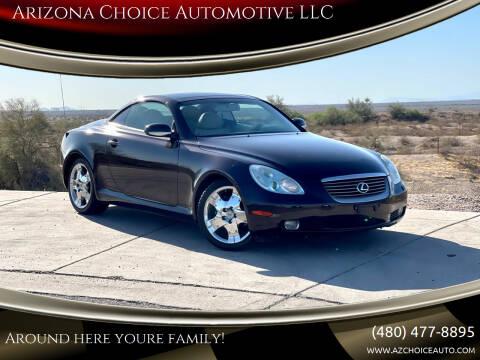 2004 Lexus SC 430 for sale at Arizona Choice Automotive LLC in Mesa AZ
