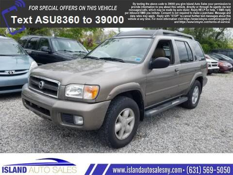 2002 Nissan Pathfinder for sale at Island Auto Sales in E.Patchogue NY
