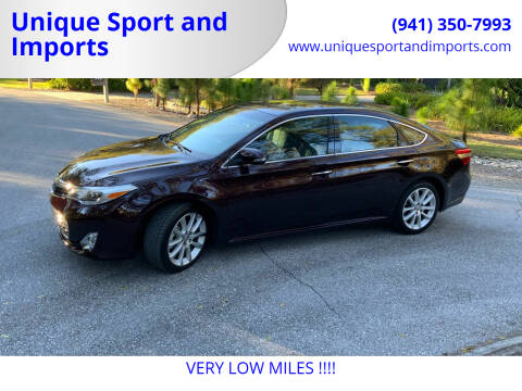 2013 Toyota Avalon for sale at Unique Sport and Imports in Sarasota FL