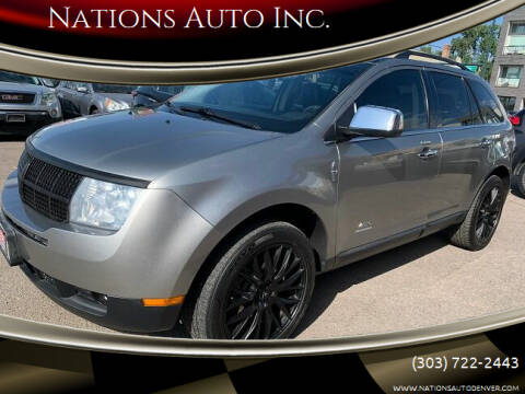 2008 Lincoln MKX for sale at Nations Auto Inc. in Denver CO