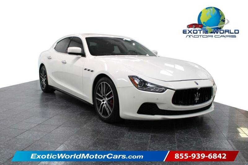 2015 Maserati Ghibli for sale at Exotic World Motor Cars in Addison TX