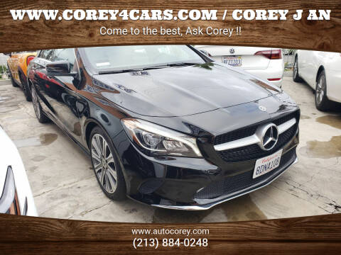 2018 Mercedes-Benz CLA for sale at WWW.COREY4CARS.COM / COREY J AN in Los Angeles CA
