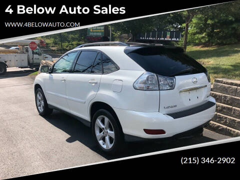2007 Lexus RX 350 for sale at 4 Below Auto Sales in Willow Grove PA